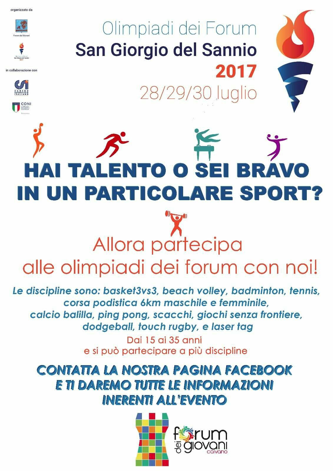 olimpiadi del forum