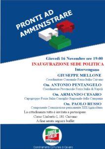 """Forza Italia:""""Pronti ad amministrare"""", l'inaugurazione della sede del partito"""