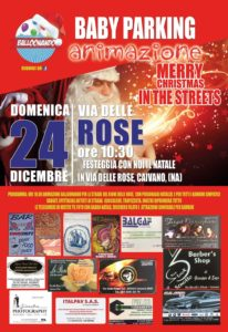Merry Christmas in the streets, il 24 dicembre a via delle Rose