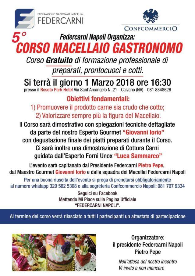 Corso gratuito di Macellaio Gastronomico, il 1 marzo al Roseto
