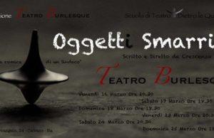 """Crescenzo Autieri in """"Oggetti Smarriti"""" al teatro Burlesque"""