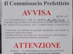 Intervento di derattizzazione il 16 e il 17 aprile sul territorio comunale