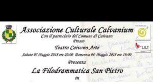 """Sabato 5 maggio alle ore 20.00 e domenica 6 alle 19.00, la Filodrammatica San Pietro insieme all'Associazione culturale Calvanium, metterà in scena all'Auditorium """"Caivano Arte"""" la commedia di Eduardo De Filippo """"Questi fantasmi""""."""