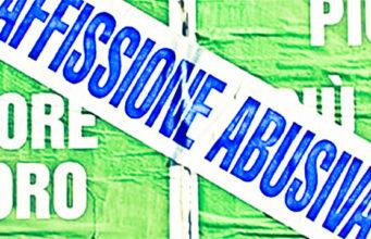 affissione abusiva