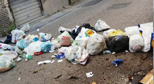spazzatura a via roma