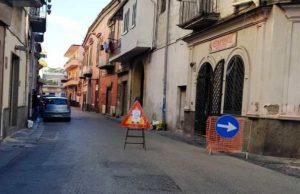Lavori a via Roma
