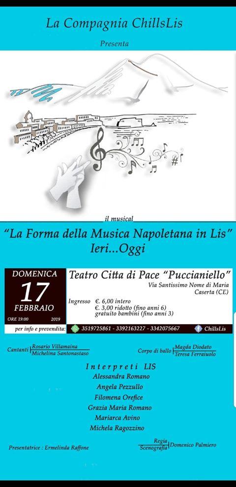 La forma della musica napoletana in Lis, lo spettacolo per i non vedenti