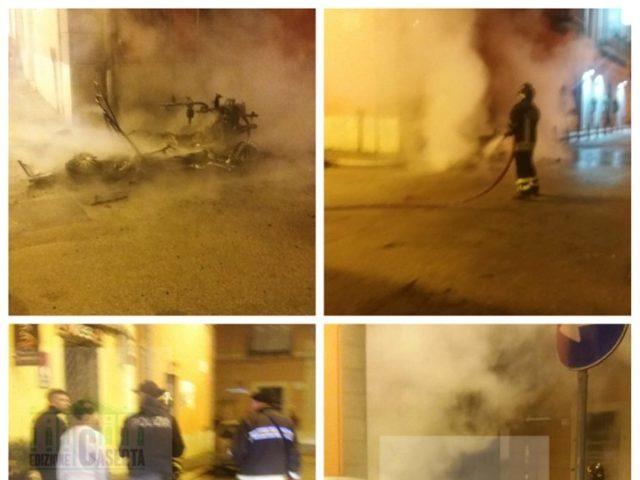 Minicar incendiata nel centro di Caserta da un ragazzo di Caivano