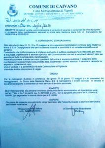 ordinanza divieto vendita contenitori in vetro